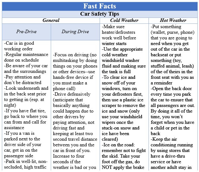 Fast Facts Car Safety